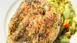 Herb Chicken Breast with Cucumber and Apple Salad