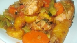 Chicken and Plantain Poulet DG