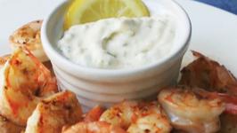 Grilled Shrimp with Cured Lemon Aioli
