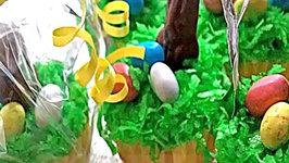 Easter Basket Springtime Cupcakes (Almond Vanilla Cupcake)