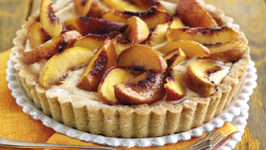 South African Peach and Spiced Ricotta Tart