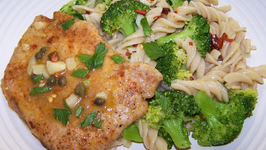 Pork Piccata with Lemon Broccoli Pasta