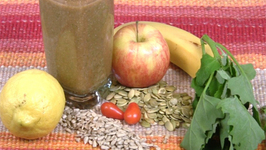 Green Fruit, Vegetable and Seeds Smoothie
