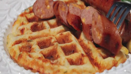 Bacon, Cheese and Chive Waffles