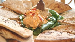 GRILLED PITA DIPPERS  WITH SOUTH WESTERN HUMMUS