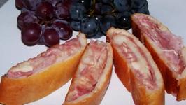 Gluten Free Baked Italian Ham and Cheese Stromboli