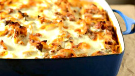 A Healthier Version Of  Cheesy Italian Beef Bake
