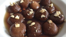 Brown Rasgulle (Indian Sweets)