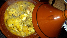 CHICKEN WITH PRESERVED LEMONS, ARTICHOKES AND OLIVES EMSHMEL
