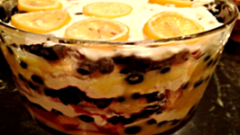 Lemon and Blueberry Trifle