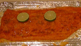 Atlantic Salmon with Spicy Chipotle Lime Sauce