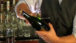 Sabering a Champagne Bottle