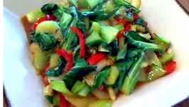 Chinese Style Stir Fried Garlic and Ginger Bok Choy