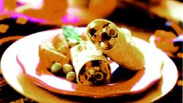 Multigrain Burritos with Mushroom and Eggplant