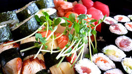 Sushi With Pickled Ginger