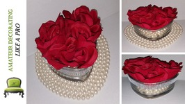 DIY Valentine Floral with Dollar Tree Roses and My Mom's Pearls