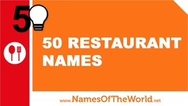 50 Restaurant Names - The Best Names For Your Company