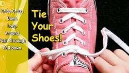 How To Tie Your Shoe - I Can Tie My Shoe - Tying Shoes - Learn How To Tie Shoes
