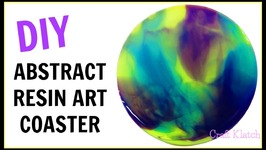 DIY Abstract Resin Art Coaster   Color Blending  Another Coaster Friday  Craft Klatch