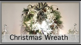 Christmas Decorating 2016  Wreath above the Fireplace