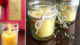 Homemade Candles with 2 Ingredients - Valentine's Day