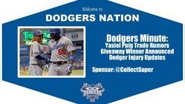 Dodgers Minute Trade Rumors, Jersey Winner, Injury Report and More