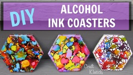 DIY Alcohol Ink Coasters  Craft Klatch  Another Coaster Friday AnotherCoasterFriday