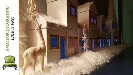DIY Kid Friendly Dollar Tree Winter Wonderland Village and Holiday Night Light