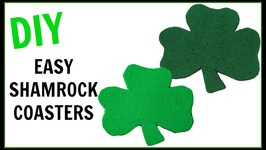 Easy Shamrock Coasters  Another Coaster Friday  DIY Projects  Craft Klatch  How To
