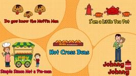 KIds Food Network Rhymes Jukebox  Nursery Rhymes  Animated Songs for Children
