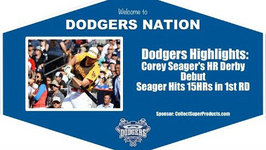 Dodgers Highlights Corey Seager Hits 15HRs in Home Run Derby Debut