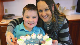 Betty's Daughter and Grandson Decorate Easter Eggs -Easter