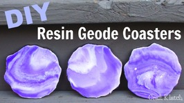 DIY  How To Make Resin Geode Coasters  Another Coaster Friday  Craft Klatch