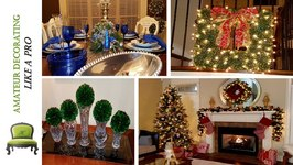 Christmas Tour 2016  Living Room  Foyer and Tablescape With Dollar Tree