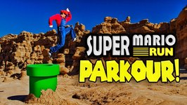 Super Mario Run Meets Parkour in Real Life in 4K