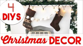 4 EASY Christmas Decor DIYs  Small Apartment Christmas Decorating 2016