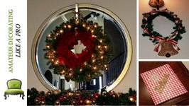 My Last Minute Dollar Tree Christmas Decor - DIY Wreath, Scounces and More