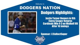Dodgers Highlights Corey Seager Returns in Dodgers 4-3 Loss vs. Cardinals in 16 Innings