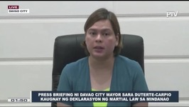 Sara Duterte sets guidelines for Davao Citys hold-and-secure policy