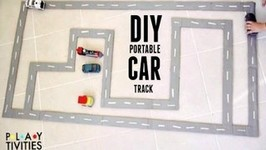Portable DIY Car Track Made From Cardboard