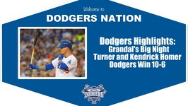 Dodgers Highlights - Yasmani Grandal Hits 3 Homers in Dodgers 10-6 Win vs. Padres