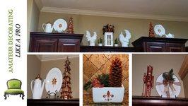 DIY Decorating Cabinet Ledges For Christmas 2016