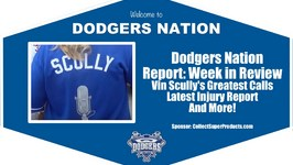 Dodgers Nation Report Vin Scully's Greatest Calls, Injury Report, Seager Jersey Winner and More