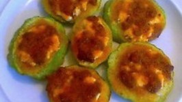 Spinach and Cheese Stuffed Squash
