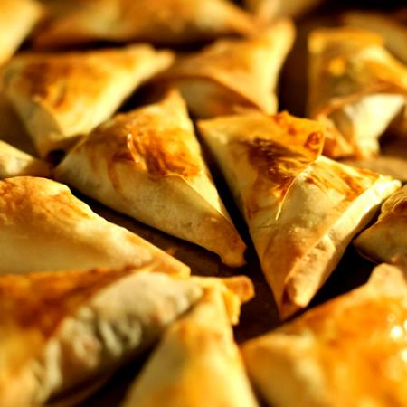 Spinach Parmesan Phyllo Triangles