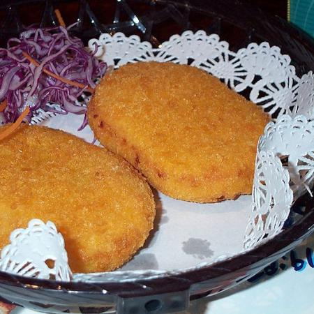 Croquettes With Red Lettuce