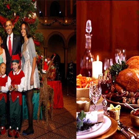 Obamas Christmas 2012 Dinner