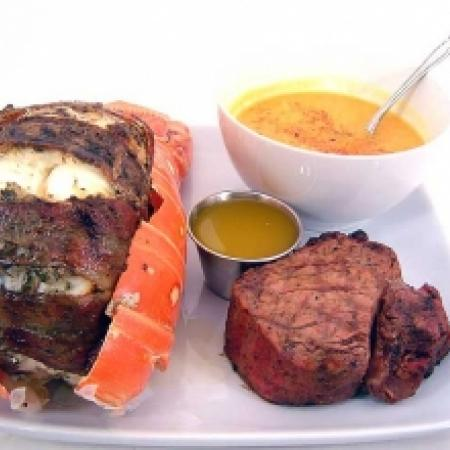 Grilled Lobster and Steak