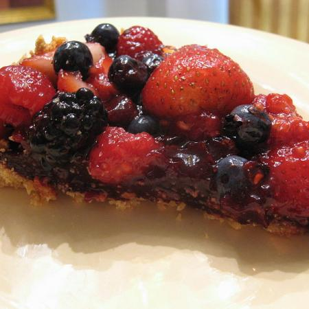 Summer Berry Pie slice