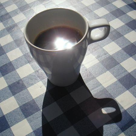 Hot Coffee on Table